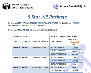 Star Umrah Packages