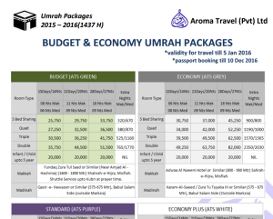 Aroma Travel Services Umrah Packages - Aroma Travel Services