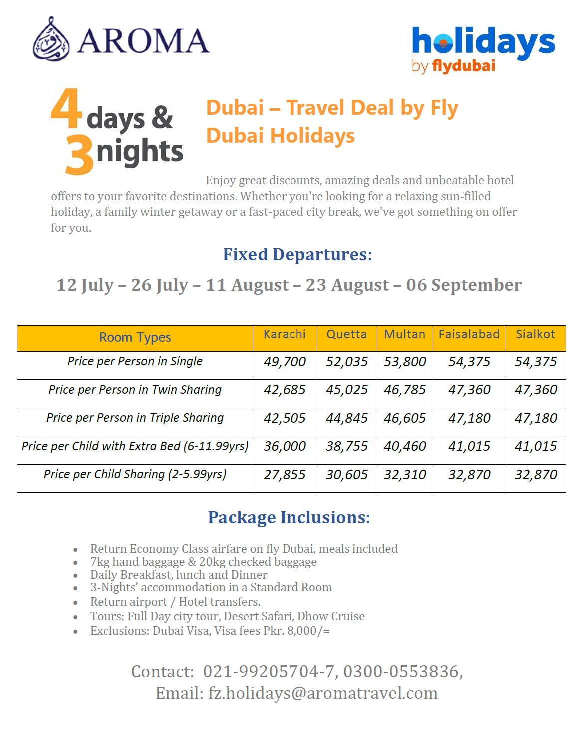 Aroma Travel Services Dubai Travel Deal By Fly Dubai Holidays Aroma Travel Services